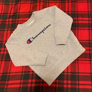 Champion Sweatshirt Pullover Grey Blue Girls Sz 5T